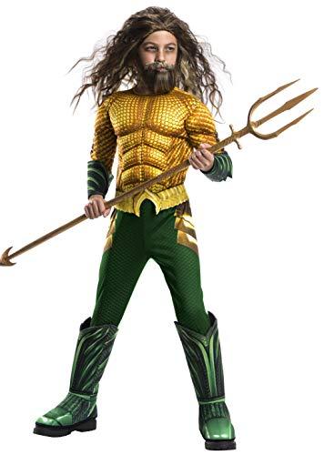 Kinder Kostüm Meer - Rubie's Offizielles DC Aquaman The Movie-Kostüm für Kinder, Größe L, Alter 8-10 Jahre