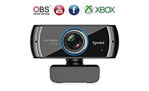 Webcam Streaming Xbox H.264 Video Stream Web Camera Full 1080p HD Built-in Microphone for OBS YouTube or Twitch Streaming