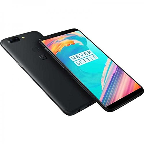 OnePlus 5T  - Smartphone (SIM doble 4G, 15,3 cm (6.01'), 128 GB, 16 MP, Android, 7.1.1 Nougat, Negro)