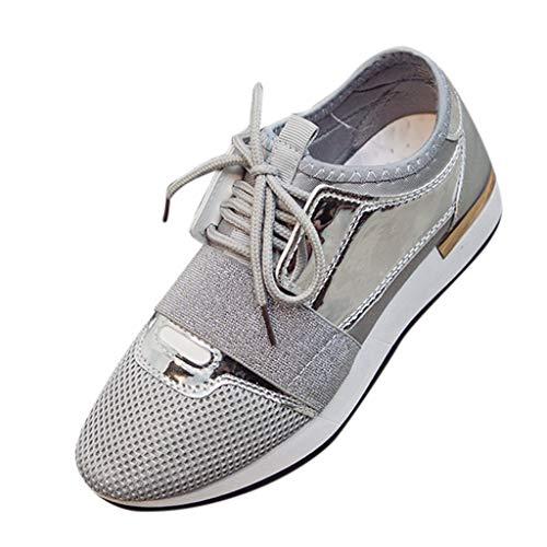 Flip Jordan Farbe (YEARNLY Damen Turnschuhe Laufschuhe Freizeit Sneaker Dämpfung Leichte Rutschfeste Atmungsaktive Sportschuhe Fitness Schuhe Weiß, Schwarz, Rosa, Silber 36-41)