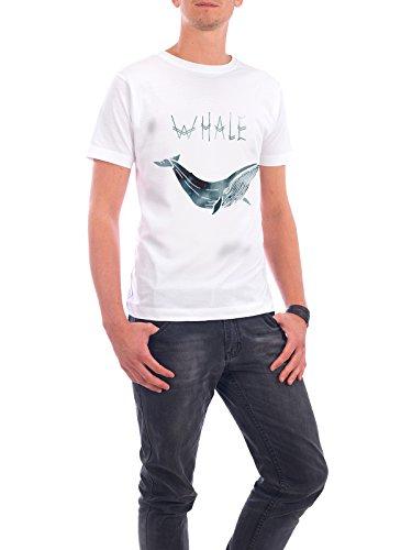 """Design T-Shirt Männer Continental Cotton """"Whale I"""" - stylisches Shirt Tiere Natur von Mia Nissen Weiß"""