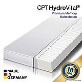 HydroVital-Spa 7 Zonen Premium Comfort Kaltschaum Matratze, Härtegrad H2, H3, H2 & H3 - Made in Germany – 10 Jahre GARANTIE – ÖKO-Tex 100 (90 x 200 x 12 cm, H2)