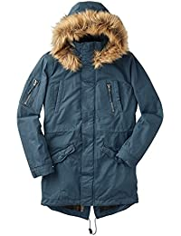 Joe Browns Men's Borg-Lined Winter Parka Jacket With Faux Fur Collar