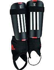 Adidas 11Club - Espinillera, color negro / blanco / rojo, talla XL