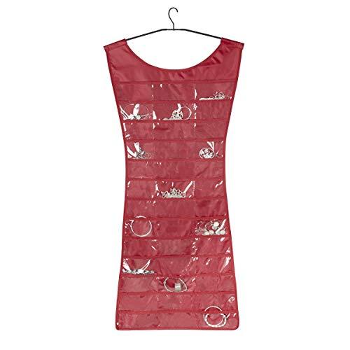 Umbra 299035-505 - Organizador de Joyas, diseño de Vestido, Color Rojo