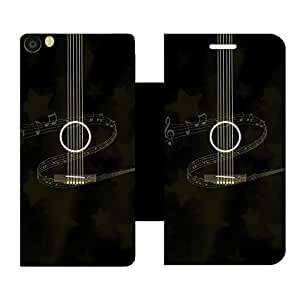 Skintice Designer Flip Cover with hi-res printed Vinyl sticker wrap-around for Vivo Y55L