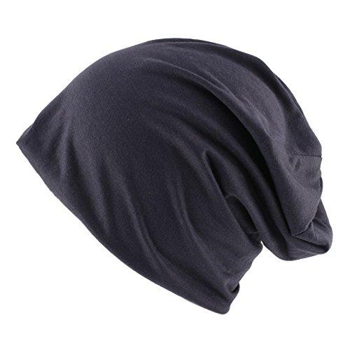 Ducomi® Wiz - Berretto Unisex Morbido in Jersey - Leggero, Sottile e Comodo (Dark Grey)