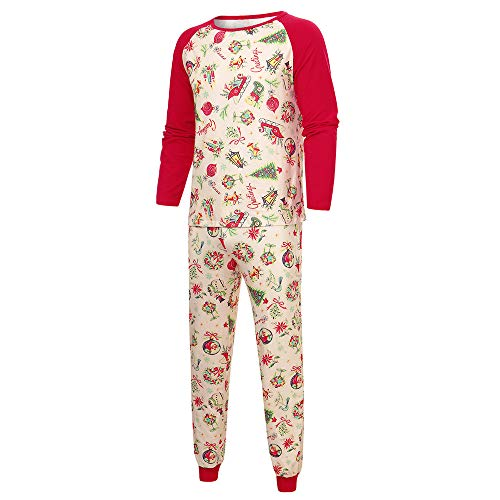 uen Männer Kinder Weihnachten Familie Hohe Qualität Passende Nachtwäsche Sets Weihnachtsmann Gedruckt Homewear Nachtwäsche ()