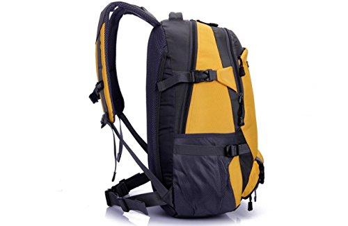 LQABW Grande Capacità Walking Outdoor Spalla Degli Uomini Borsa E Donne Impermeabile Sport Alpinismo Ridotto Un'escursione Zaino,Green Yellow