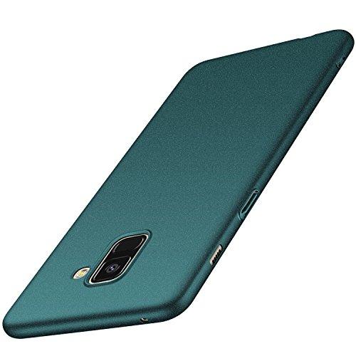 anccer Samsung Galaxy A8 Hülle, [Serie Matte] Elastische Schockabsorption und Ultra Thin Design für Samsung Galaxy A8 2018 (Kies Grün)