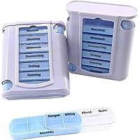 Preisvergleich für RMB 2er Set Pillenbox mit Wocheneinteilung Tablettenbox Tageseinteilung Wocheneinteilung