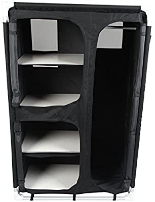 Royal 355390 Wardrobe, Medium, Black - low-cost UK wordrobe shop.