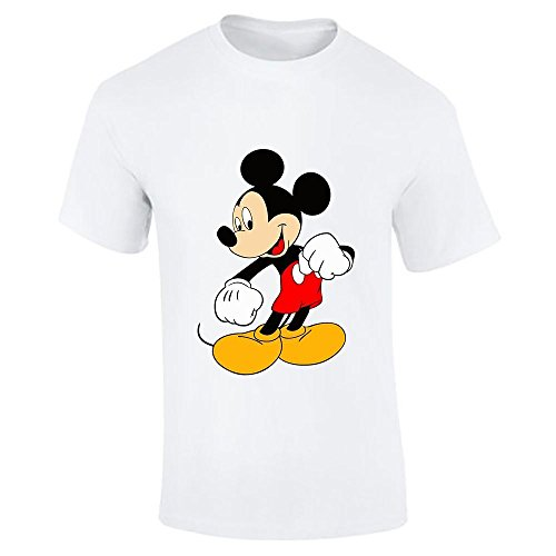 Image of Disney Mickey Mouse Classic Kick Round Neck T Shirt For Mens