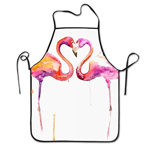 Eigenen Sie Ihren Kostüm Kopf Halten - Langlebig waschbar einstellbar Home küchenschürze rosa Flamingos overlock schürze Mutter Geschenk Kochen backen Restaurant Unisex