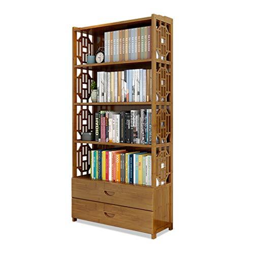 LIAN Vintage Schublade Bücherregal, Boden stehend Bücherregal Kinder Student Schlafzimmer...