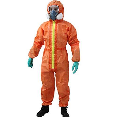 KZNLX Allgemeine Schutz- und Sicherheitsmaßnahmen Chemische Schutzkleidung Anti-Schwefelsäure-Sprühfarbe Isolation Säuren und Laugen Overalls (Size : M) (Langarm Mikrofaser Erwachsene)