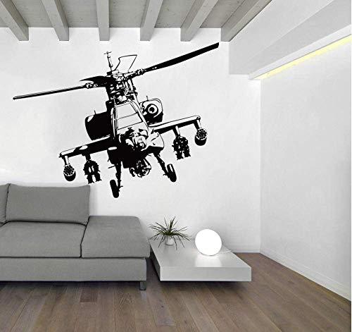 Große Hubschrauber Wandaufkleber Jungen Zimmer Schlafzimmer Flugzeug Flugzeug Armee Wandtattoo Wohnzimmer Kindergarten Vinyl Wandbild 56X42 cm