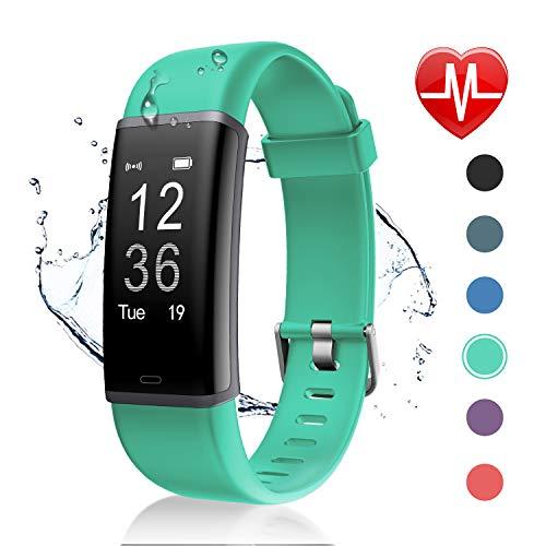 Letsfit Fitness Tracker mit Pulsmesser Fitness Armband Wasserdicht IP67 Schrittzähler Uhr Pulsuhren Smart Armband Uhr Aktivitätstracker mit Schlaf Monitor Kompatibel mit Android iOS Smartphone