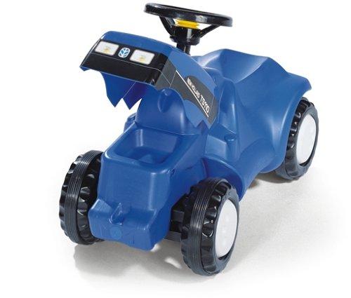 Rolly Toys rollyMinitrac NH T6010 (für Kinder von 1,5 - 4 Jahre, Ablage unter Motorhaube, Flüsterlaufreifen) 132089