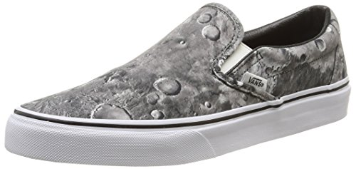 Vans U Classic Slip-On Moon, Sneakers, Unisex, Grigio (Moon/Pewter/True White), 39