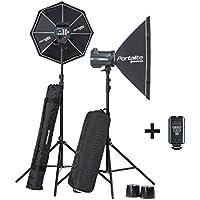 El poucesrom EL20749,2-équipement complet flash Studio BRX 500/500 Noir