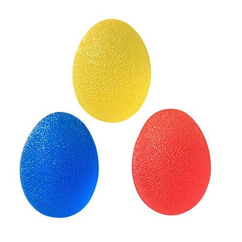 Set di 3a forma di uovo Squeeze Palline antistress per mano, 3Resistenza