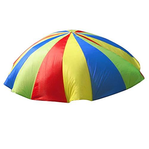 MagiDeal Regenbogen Schwungtuch für Kinder und Familie - Bunt Fallschirm Parachutes Spielzeug - Größe auswählbar - 4 M