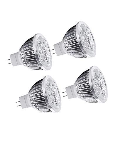 (Led Leuchtmittel Spot LED Lampe 4er Set - Leuchtmittel ersetzt Halogen 35 Watt,Abstrahlwinkel 35°,4W MR16 12V,Schienenstrahler,400LM,Warmweiß 3000K[Energieklasse A+]BESBOMIG)