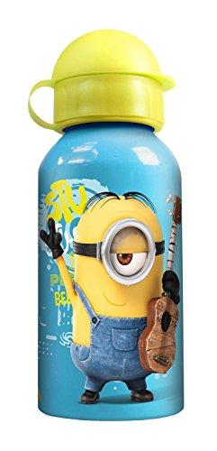 p:os 24154 Minions Trinkflasche, Aluminium, 400 ml