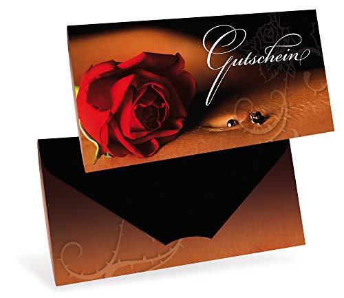 Gutscheinkarten (10 Stück) - Geschenkgutscheine für Tattoo, Piercing, Kunst, Fotografie - DIN lang Faltkarte verschließbar