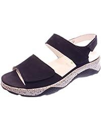Waldläufer Femmes Sandalettes Nero Noir, (Nero) 582002175/001