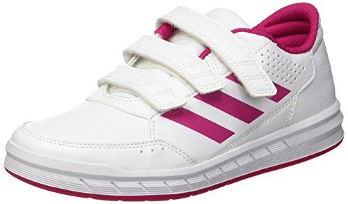 Adidas altasport cf k, scarpe sportive indoor unisex - bambini, bianco (ftwr white/bold pink/ftwr white), 33 eu