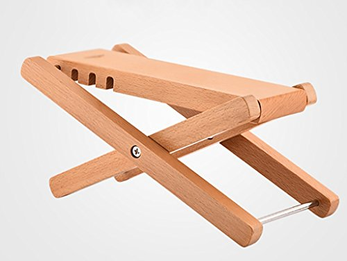 Imagen de reposapiés para  pedal clásico de  de madera maciza plegable ajustable pedal de 4 pedales de madera  de color pedal