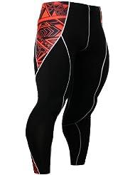 Fixgear Hommes Femmes Tights Compression Spandex Skin Base Layer Pants noir S ~ 2XL