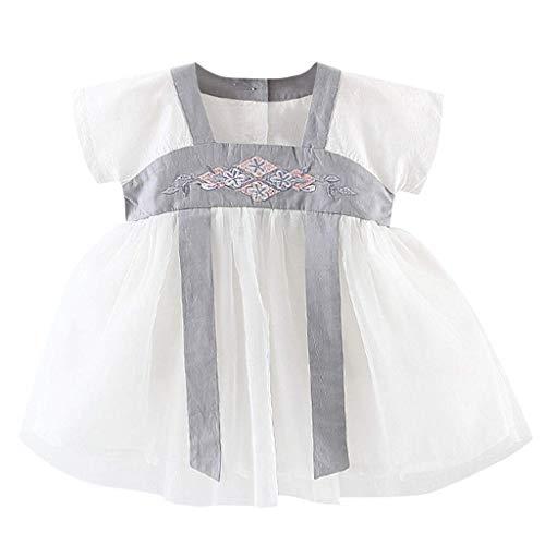 KIMODO Baby Mädchen Gesticktes Kostüm Antike Han chinesische Kleid Partykleid Urlaub Kleinkind Prinzessin Tüllkleid (Thanksgiving Kostüme Für Hunde)