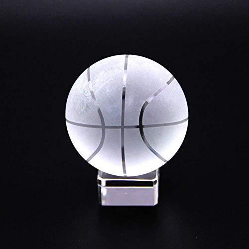 Kzfs Kristallkugel Klar Asiatische Quarz Glas Kristall Basketball Kugel Fengshui Geschenk Briefbeschwerer Home Decoration 60mm Kugel mit Basis - Quarz-kristall-globus