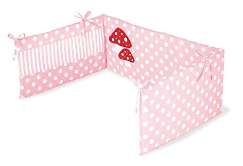 650969-7 - Nestchen für Kinderbetten, Glückspilz' rosa