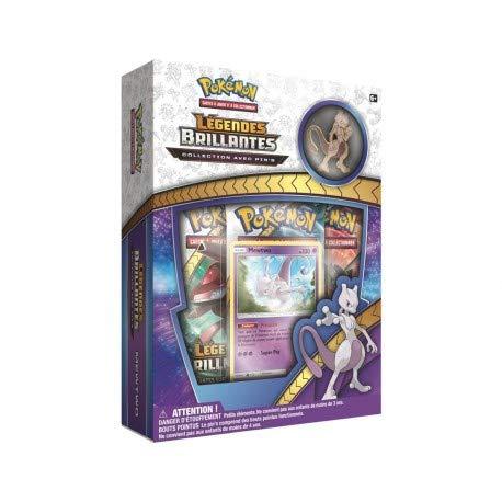 Coffret collector Cartes Pokémon Légendes brillantes - Pin's Mewtwo Soleil et Lune 3.5 - FR