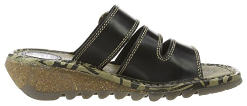 Fly London Thea724fly, Sandali Donna Nero (Black)