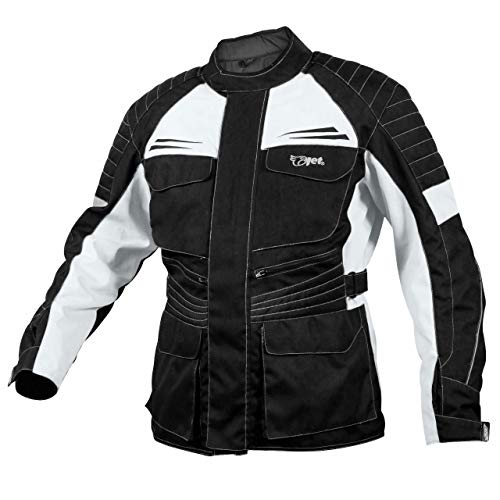 JET Blouson Veste Moto Homme /à Capuche Kevlar Aramid Gris, S EU 46-48