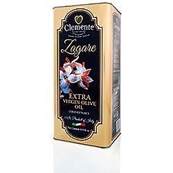 Olio Clemente - 1 Latta di Olio Extra Vergine di Oliva, 100% Italiano, Le Zagare, 5 LitrI