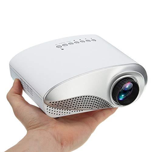 Jasbo 3D Full HD 1080P Mini Projektor LED Multimedia Heimkino USB VGA HDMI TV AV Lumen Beamer Mini Projektor mit maximalem Video Beamer