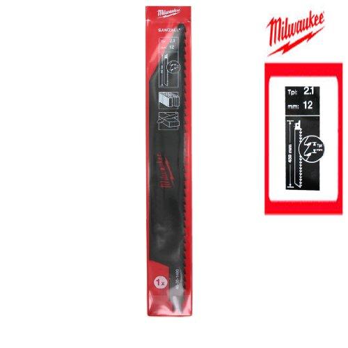 MILWAUKEE SAWZALL 2,1 TPI 48001460 - Lama per sega a sciabola, TC BRIQUE 450 mm
