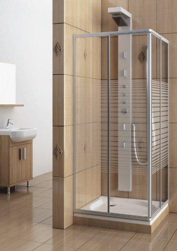 Eckeinstieg Duschkabine Echtglas Sicherheitsglas im Test