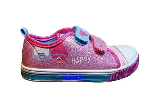 Cerd-Zapatillas-con-Luces-Trolls-Bambas-de-Lona-con-Luz-Poppy-Color-Fucsia-Brillos-Regalo