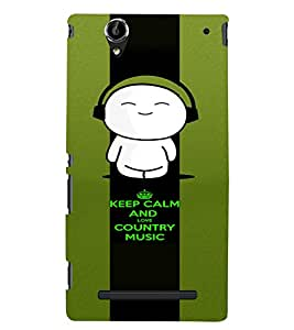 PrintVisa Music Cute Quotes 3D Hard Polycarbonate Designer Back Case Cover for Sony Xperia T2 Ultra