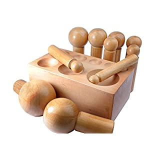 Proops 11 Piece Doming Dapping Block and Punch Set Hardwood 17-61mm. (J1132) Free UK Postage