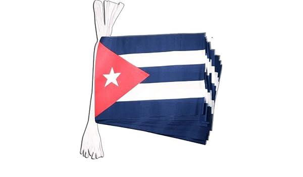 Flaggenfritze Fahnenkette Kuba L/änge 5,9 m