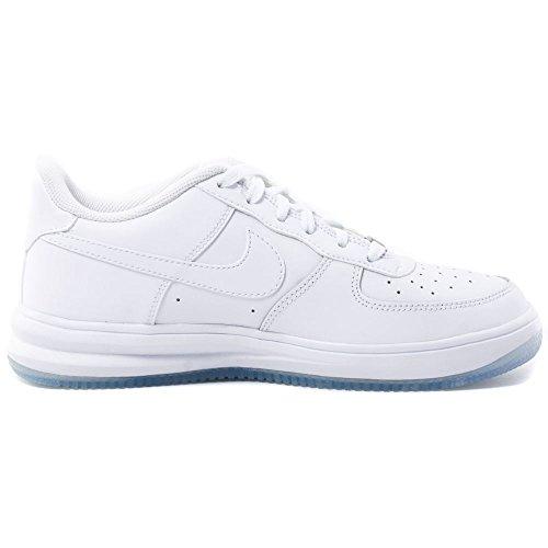 Nike Lunar Force 1 '16 (Gs), espadrilles de basket-ball garçon Blanc Cassé - Blanco (White / White-White)