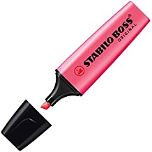 STABILO BOSS Original - Marcador fluorescente - Caja con 10 marcadores - Color rosa